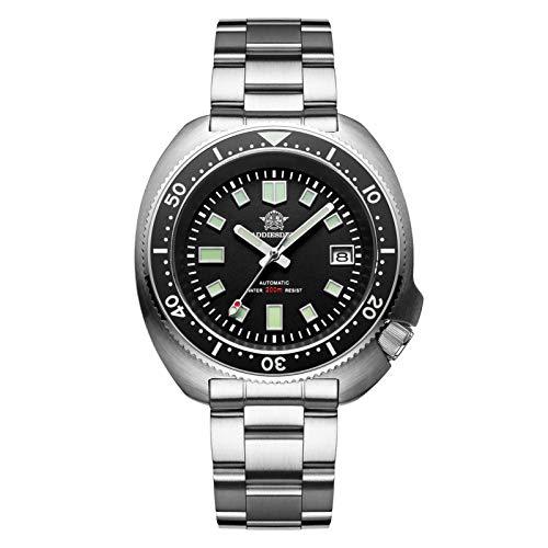 ADDIESDIVE Reloj para Hombre Acero Inoxidable 007 Sports NH35A Reloj automático BGW9 Reloj de Buceo de Cristal de Zafiro con Bisel de cerámica súper Luminoso