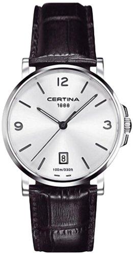 Certina C017.410.16.037.00 - Reloj analógico de Cuarzo para Hombre con Correa de Piel, Color Negro
