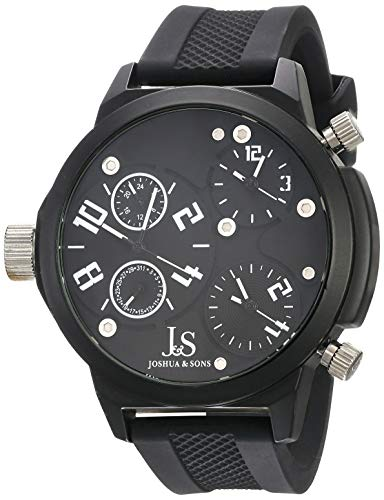 Joshua & Sons JS-40-WT - Reloj de Cuarzo para Hombres, Color Negro