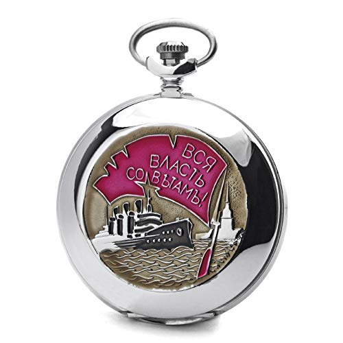 Molnija Reloj de bolsillo 3602 OKTOBERREVOLUTION 70 Aniversario de Reloj mecánico ruso