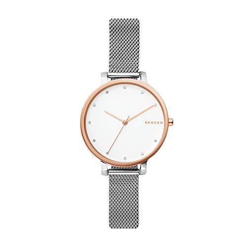 Skagen SKW2662 Hagen - Reloj de pulsera para mujer, dos tonos, acero plateado