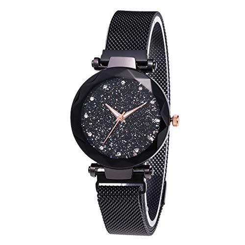 Guangcailun Estrella de Cuarzo del dial Reloj clásico Casual Mujeres de Cuarzo analógico Reloj de Pulsera de Metal con Correa de Acero Inoxidable