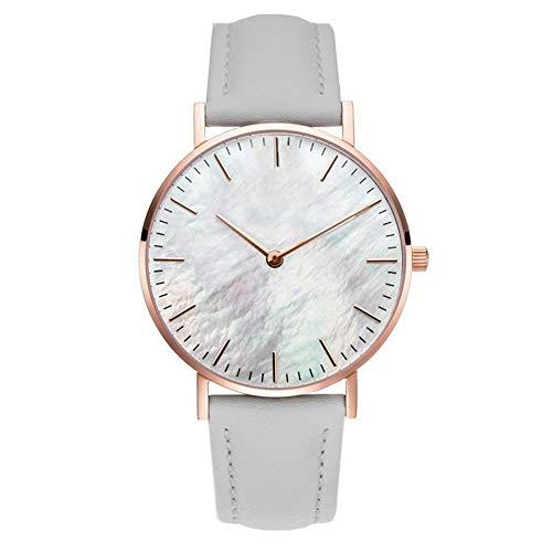 Clastyle Reloj Mujer Ultrafino Moda Relojes Minimalista con Correa de Cuero