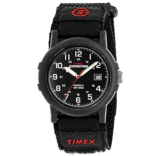 Timex Expedition Camper - Reloj análogico de cuarzo con correa de nailon para hombre, color negro