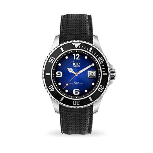 ICE-WATCH Ice Steel Deep Blue - Reloj Negro para Hombre con Correa de Silicona, 017329 (Extra Large)