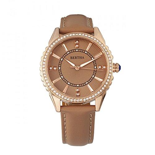 Bertha Reloj Clara con correa de piel