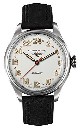 Sturmanskie Heritage Arctic 2431-6821342 - Reloj automático con correa de piel y 24 horas (42 mm)