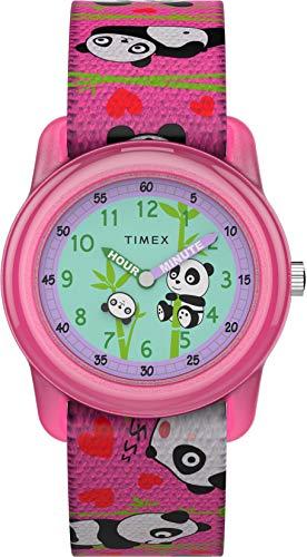 Timex Reloj Análogo clásico para Unisex Niños de Cuarzo con Correa en Tela TW7C77100