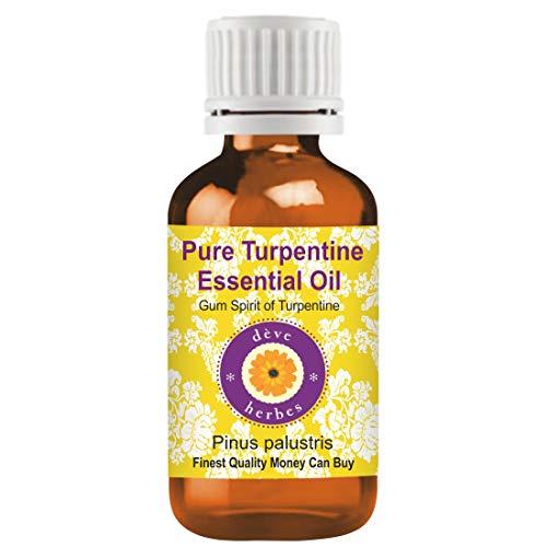 Deve Herbes Aceite Esencial de Trementina Pura (Pinus palustris) 100% Natural Grado Terapéutico Vapor Destilado 100ml (3.38 oz)