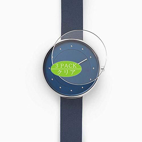 Vaxson - Protector de pantalla para reloj Skagen Gitte (3 unidades, 38 mm, protector de pantalla HD, no vidrio templado, película flexible