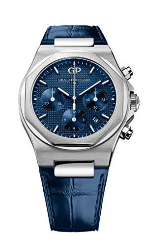Girard Perregaux Laureato - Reloj cronógrafo para hombre (42 mm), color azul