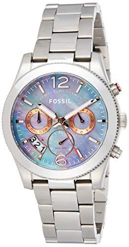 Fossil Women's Boyfriend ES3880 Silver Stainless-Steel Quartz Fashion Watch