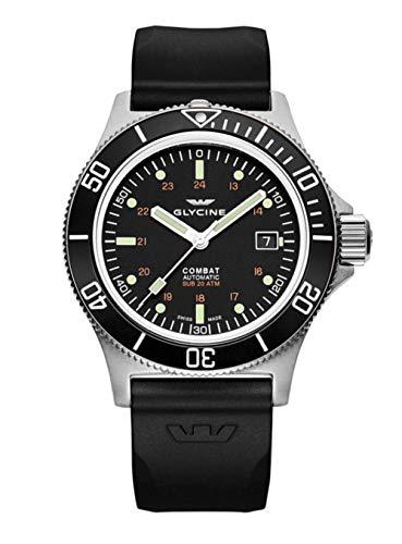 Glycine - Reloj Combat GL0087 para hombre con esfera negra automática