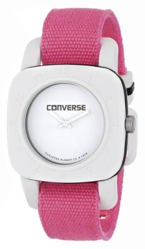 Converse VR021-690 - Reloj analógico de Cuarzo para Mujer con Correa de Tela, Color Rosa