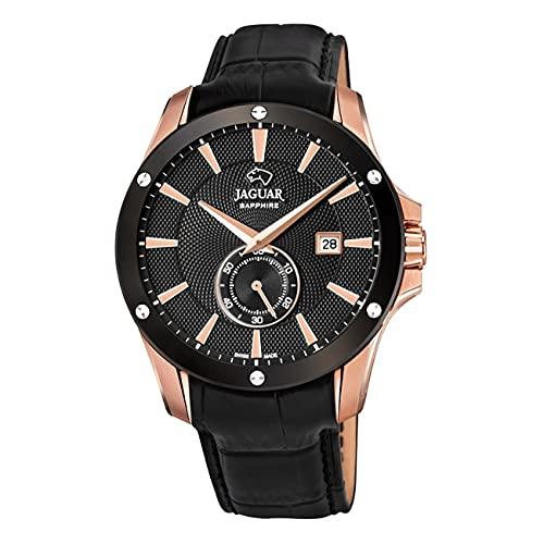 JAGUAR Reloj Modelo J882/1 de la colección ACAMAR, Caja de 44 mm Correa de Piel Negro para Caballero