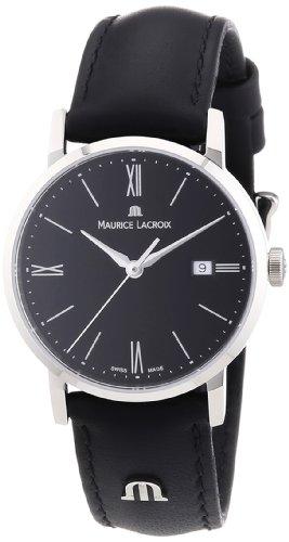 Maurice Lacroix Eliros EL1084-SS001-310 - Reloj analógico de Cuarzo para Mujer, Correa de Cuero Color Negro