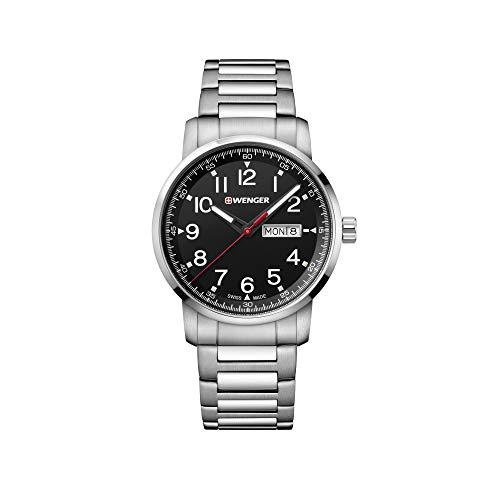 Wenger Hombre Attitude Heritage - Reloj de Acero Inoxidable de Cuarzo analógico de fabricación Suiza 01.1541.107