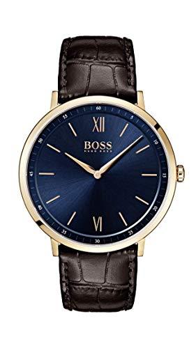 Hugo Boss Reloj Analógico para Hombre de Cuarzo con Correa en Cuero 1513661