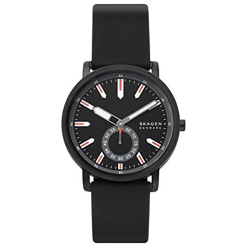 SKAGEN Reloj Analógico para Hombre de Cuarzo con Correa en Silicona SKW6612