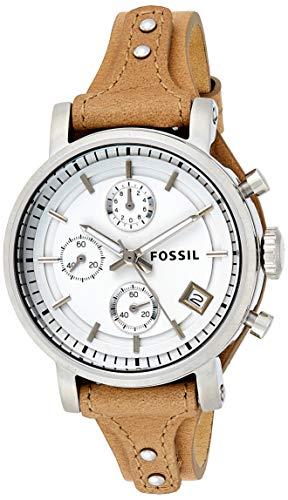 Fossil Reloj Cronógrafo para Mujer de Cuarzo con Correa en Piel ES3625