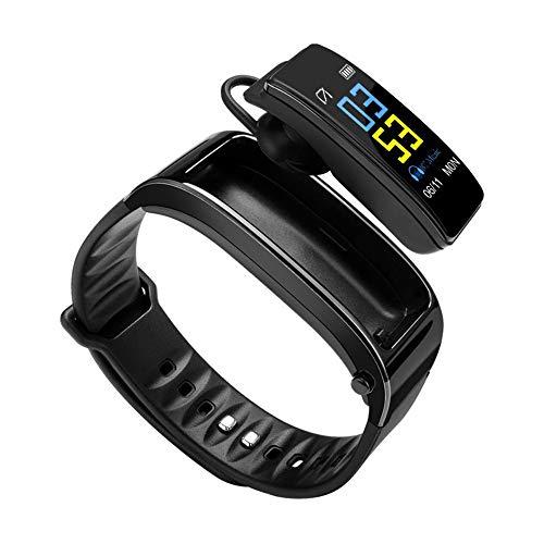 Reloj Inteligente Auricular Bluetooth Desmontable Teléfono Universal para Hombres Y Mujeres Auriculares Deportivos Pulsera Inteligente Negro