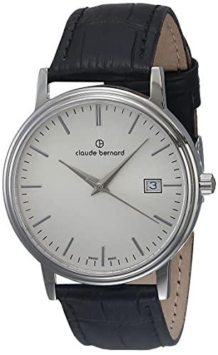 Claude Bernard 53007 3 AIN - Reloj de Pulsera Hombre, Color Negro