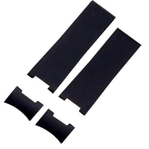 Correa de reloj de 22 mm, en goma negra, para relojes Ulysse Nardin Marine Diver
