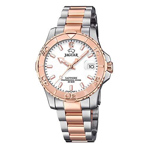 JAGUAR Reloj Modelo J871/1 de la colección Woman, Caja de 34 mm Plata con Correa Acero-Bronce para señora