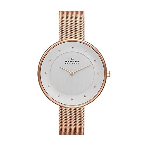 Skagen SKW2142 Gitte Reloj de Malla de Oro Rosa para Mujer