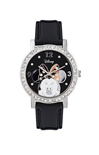 Minnie Mouse MN1148 Reloj Analógico Cuarzo para Mujer, correa en PU, blanco