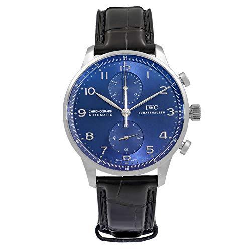 IWC Reloj de Pulsera para Hombre con cronógrafo automático, Esfera Azul, IW371491
