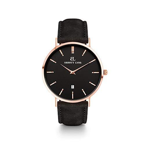 Abbott Lyon Black Leather Kensington 40 (Rosa/Negro)