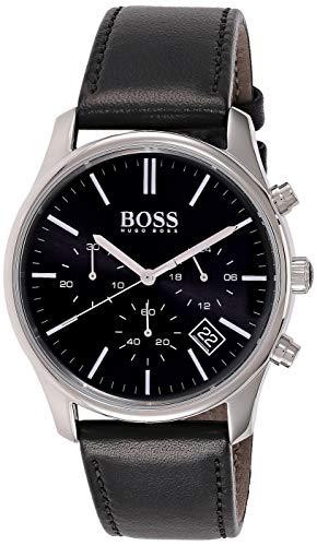 Hugo Boss Reloj Cronógrafo para Hombre de Cuarzo con Correa en Cuero 1513430