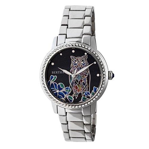 Bertha Madeline MOP - Reloj de pulsera, color plateado