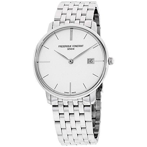 Frederique Constant Geneve Slimline Gents FC-220S5S6B Reloj de Pulsera para Hombres Plano & Ligero