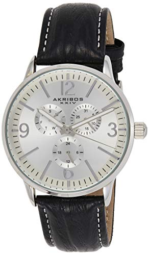 Akribos XXIV Reloj Pantalla analógica Cuarzo japonés Negro para Hombre