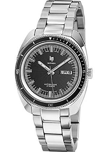 Lip–Marinier–h671m362–Pulsera Acero–Reloj automático Reloj Negro–Fechador