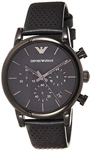 Emporio Armani Reloj para Hombre de Cuarzo con Correa en Cuero AR1737
