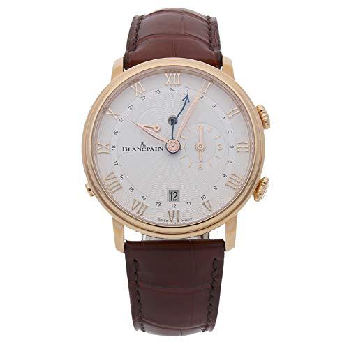 Blancpain Villeret Reveil GMT con Sello Flinque Dial Mens Reloj Perlado 6640–3642–55B