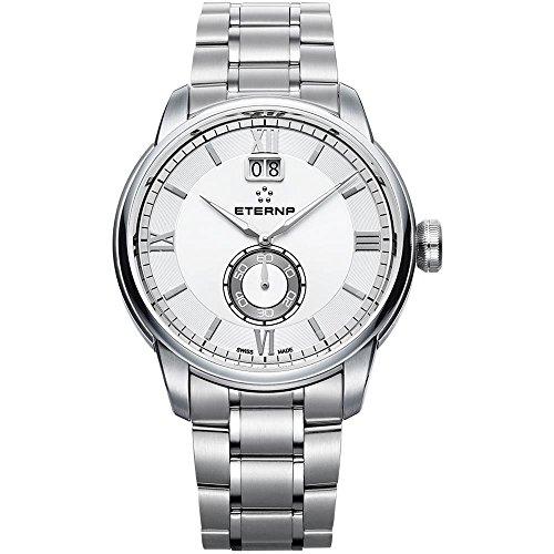 Eterna adventic Reloj para Hombre Analógico de Cuarzo Suizo con Brazalete de Acero Inoxidable 2971.41.66.1704