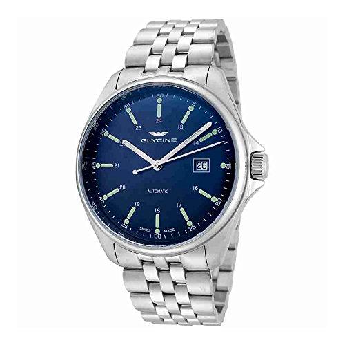Glycine Combat 6Classic automático Azul Dial Mens Reloj gl0102