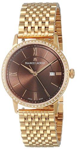 Reloj de cuarzo Maurice Lacroix Eliros Date Ladies, Oro 24k, Diamantes, 30mm