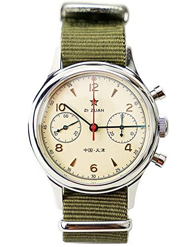 Seagull ST1901 Movimiento Zafiro Cristal Reloj Cronógrafo para Hombre 1963
