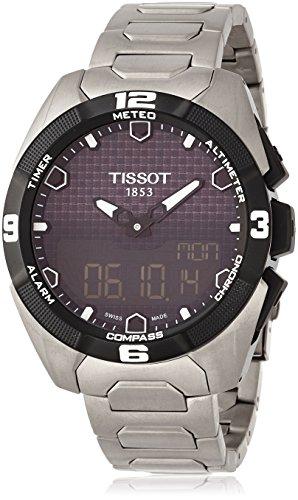 Tissot Reloj Analógico-Digital para Hombre de Energía Solar con Correa en Titanio T0914204405100