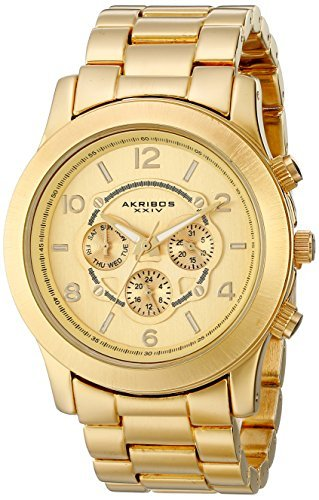 Akribos XXIV Mujer AK583YG Ultimate cuarzo multifunción reloj de pulsera por Akribos XXIV
