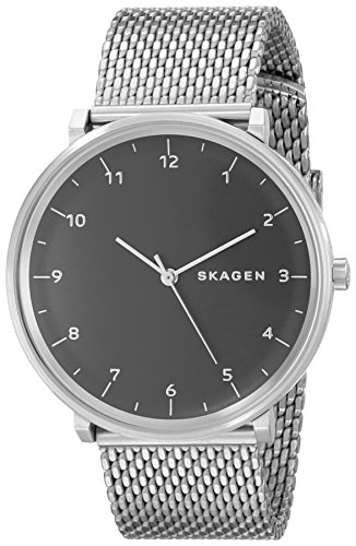 Skagen–Reloj de Pulsera Hombre Hald analógico de Cuarzo Acero Inoxidable skw6175