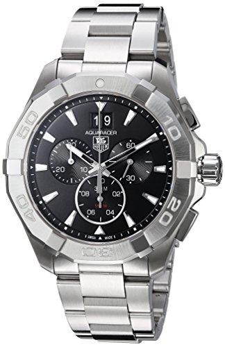 Tag Heuer CAY1110.BA0927 Reloj para hombre, Aquaracer 300m, cronógrafo, 43mm, color negro