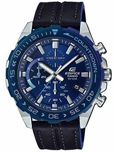 Casio Reloj Analógico para Hombre de Cuarzo con Correa en Cuero EFR-566BL-2AVUEF