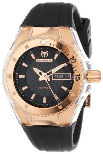TechnoMarine 110037 - Reloj, Correa de Goma Color Negro