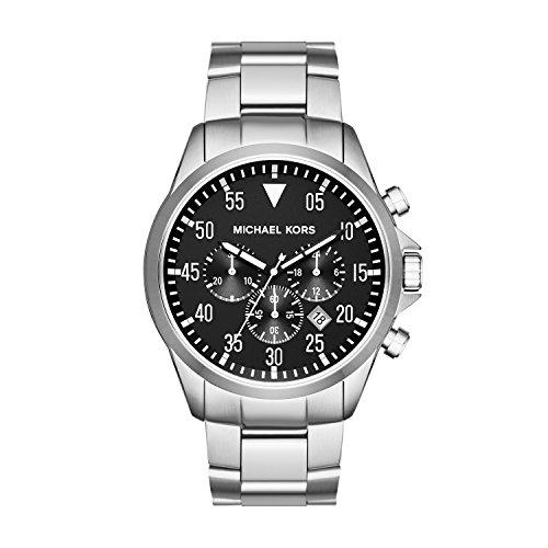 Michael Kors Reloj Hombre de Analógico con Correa en Chapado en Acero Inoxidable MK8413